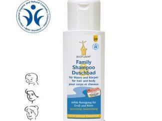 BIOTURM natūralus šampūnas ir dušo gelis, visai šeimai, 500ml