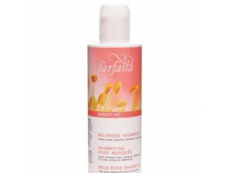 FARFALLA Sensitive Natūralus šampūnas su simondsijomis ir alavijais, jautriai galvos odai, vaikams, 200ml