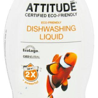 ATTITUDE Ekologiškas indų ploviklis su apelsinų žievelės aromatu, Eco –Friendly Dishwashing Liquid,700 ml