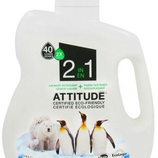 ATTITUDE Ekologiškas Skalbiklis ir minkštiklis 2 in 1 Laundry Detergent 2X and Softener, 1,8 l
