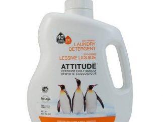 ATTITUDE Ekologiškas skalbiklis Eco Eco Laundry Detergent 2X, su citrinų žievelės aromatu, 1,8 l
