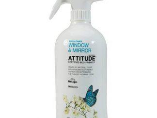 ATTITUDE Ekologiškas langų ir veidrodžių valiklis su citrinų žievelės aromatu, Eco Cleaner Window & Mirror, 800ml