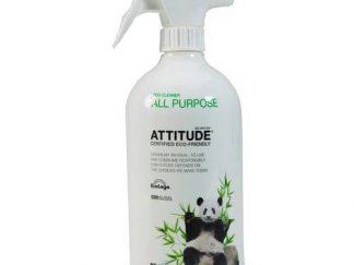 ATTITUDE Ekologiškas įvairių paviršių valiklis su citrinų žievelės aromatu , Eco Cleaner All Purpose, 800 ml