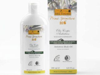 PRIMA SPREMITURA BIO Antistress Body Oil / Ekologiškas antistresinis aliejus kūnui po dušo ir masažui, su alyvuogių aliejumi, 200 ml