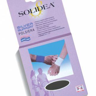 SOLIDEA SILVER SUPPORT POLSIERA / elastinis riešo raištis, sportuojant, nuo traumų, juoda, balta
