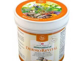 HERBAMEDICUS - Dermorevital balzamas su beta gliukanais, regeneracinė daugiafunkcinė priemonė tinka nuo žalingo aplinkos poveikio (šalčio, vėjo, drėgmės, laisvųjų radikalų), 250ml