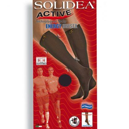 SOLIDEA / Energy Unisex kompresinės puskojinės sportuojantiems ir kt., 4 spalvos, 5 dydžiai