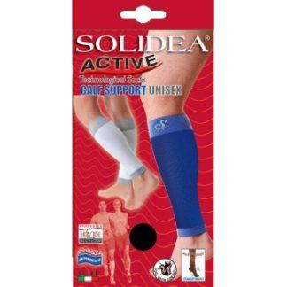 SOLIDEA Active / kompresinės blauzdinės bėgimui, ėjimui, važiavimui dviračiu, juodos, dydis S, M, L