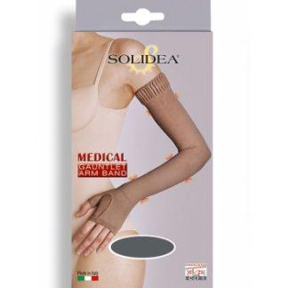 SOLIDEA Besiūlė kompresinė rankovė su pirštine Ccl.1, po traumos, 4 dydžiai